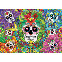 thumb-Sugar Skulls - Glow in the Dark - puzzle 1000 pieces-3