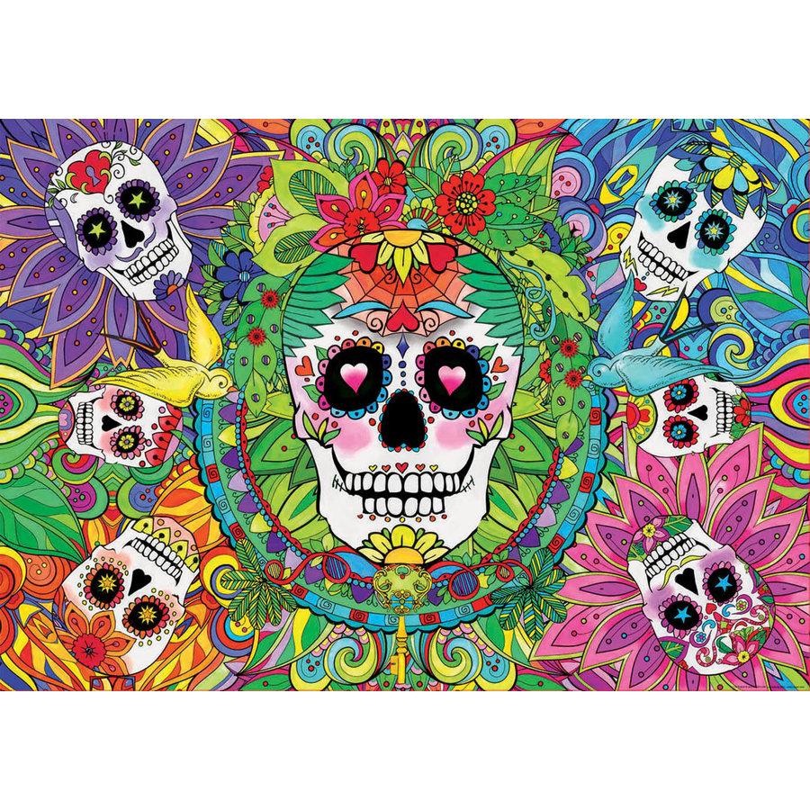Sugar Skulls - Glow in the Dark - puzzle 1000 pieces-3