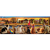 Educa Cats on the quay  -  jigsaw puzzle of 1000 pieces  - Panoramic puzzle