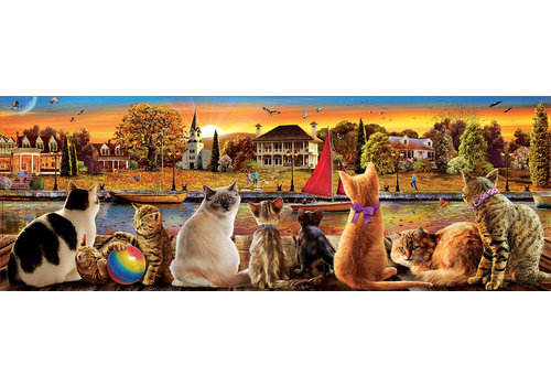 Educa Cats on the quay - 1000 pieces - Panorama