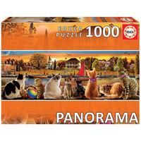 thumb-Katten op de kade  - legpuzzel van 1000 stukjes  - Panoramische puzzel-2