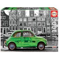 thumb-Voiture à Amsterdam - noir/blanc - puzzle de 1000 pièces-2