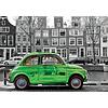 Educa Car in Amsterdam - black/white - puzzle of 1000 pieces