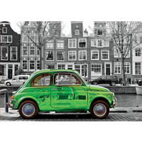 thumb-Car in Amsterdam - black/white - puzzle of 1000 pieces-1