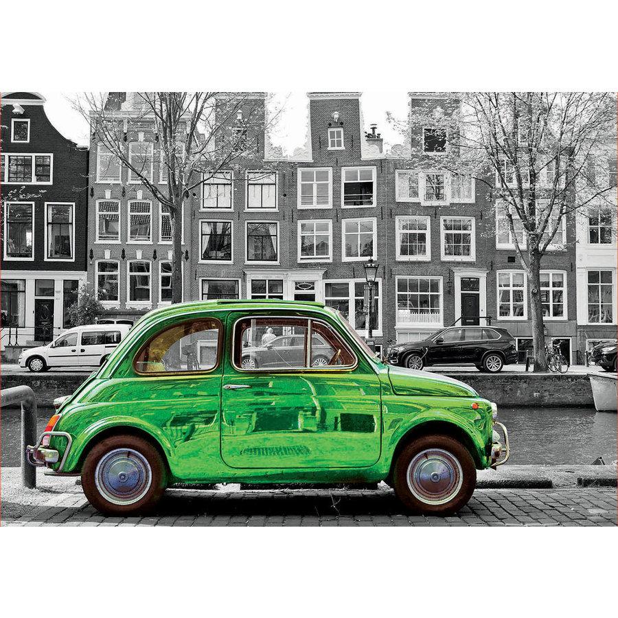Auto in Amsterdam  - zwart/wit - legpuzzel van 1000 stukjes-1