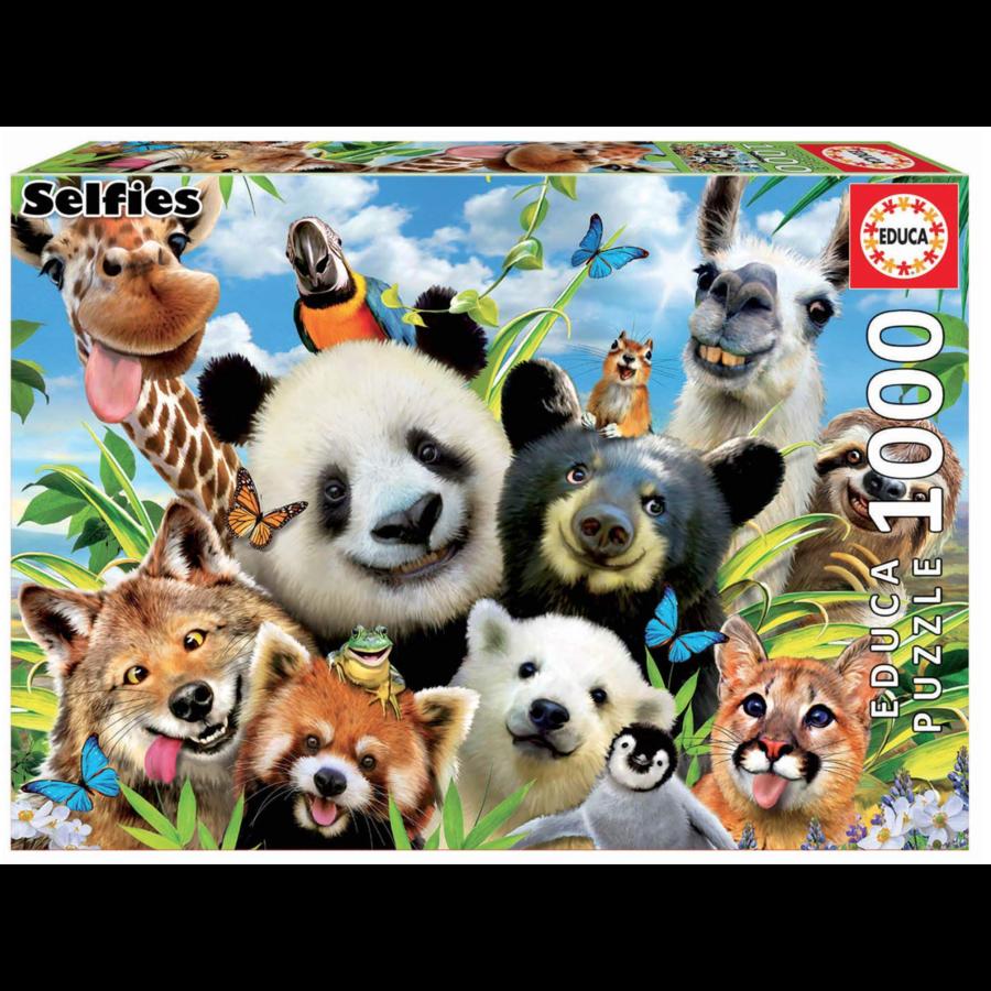 Llama Drama Selfie  - puzzle de 1000 pièces-2