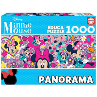thumb-Minnie Mouse  - legpuzzel van 1000 stukjes - Panoramische puzzel-2