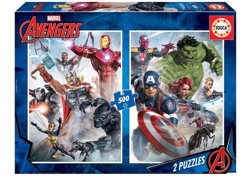 Educa Marvel Mania - 2 x 500 stukjes puzzel