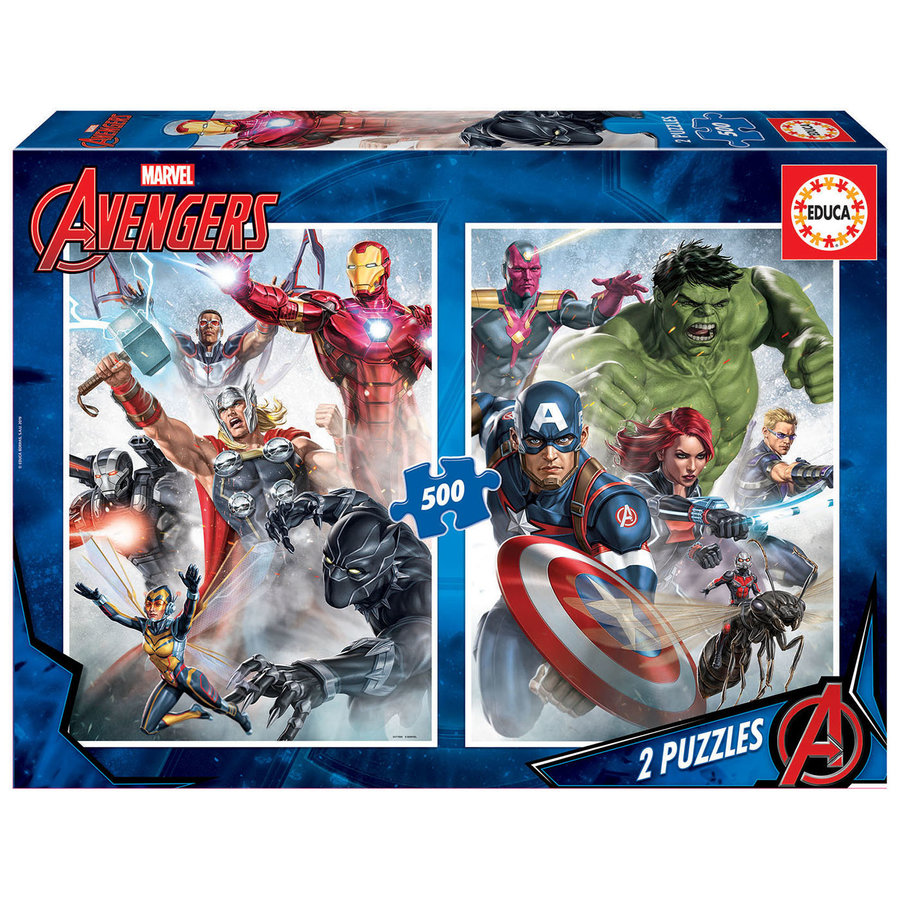 Marvel Mania - 2 x 500 pieces puzzle-1