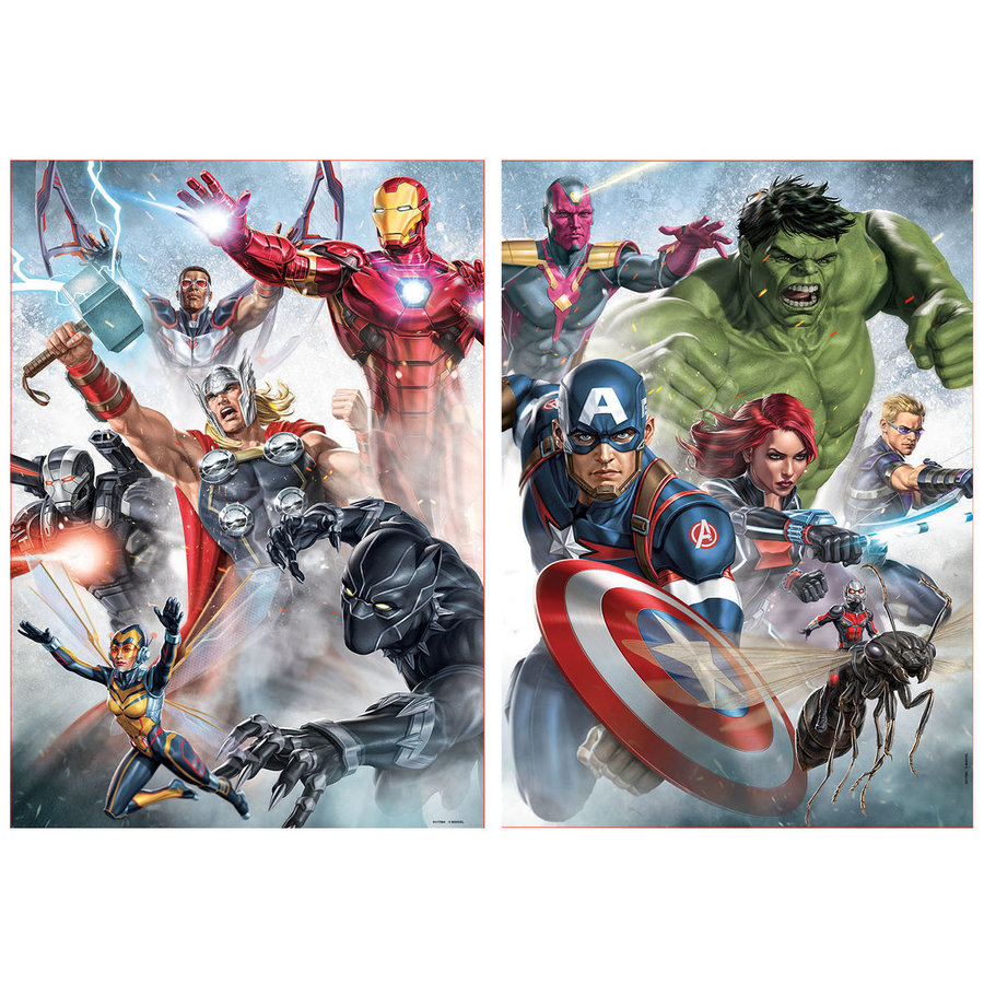 Marvel Mania - 2 x 500 pieces puzzle-2