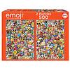 Educa Emoji - 2 x 500 stukjes legpuzzel
