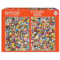 thumb-Emoji - 2 x 500 pieces puzzle-1