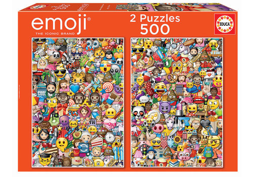 Emoji - 2 x 500 stukjes puzzel
