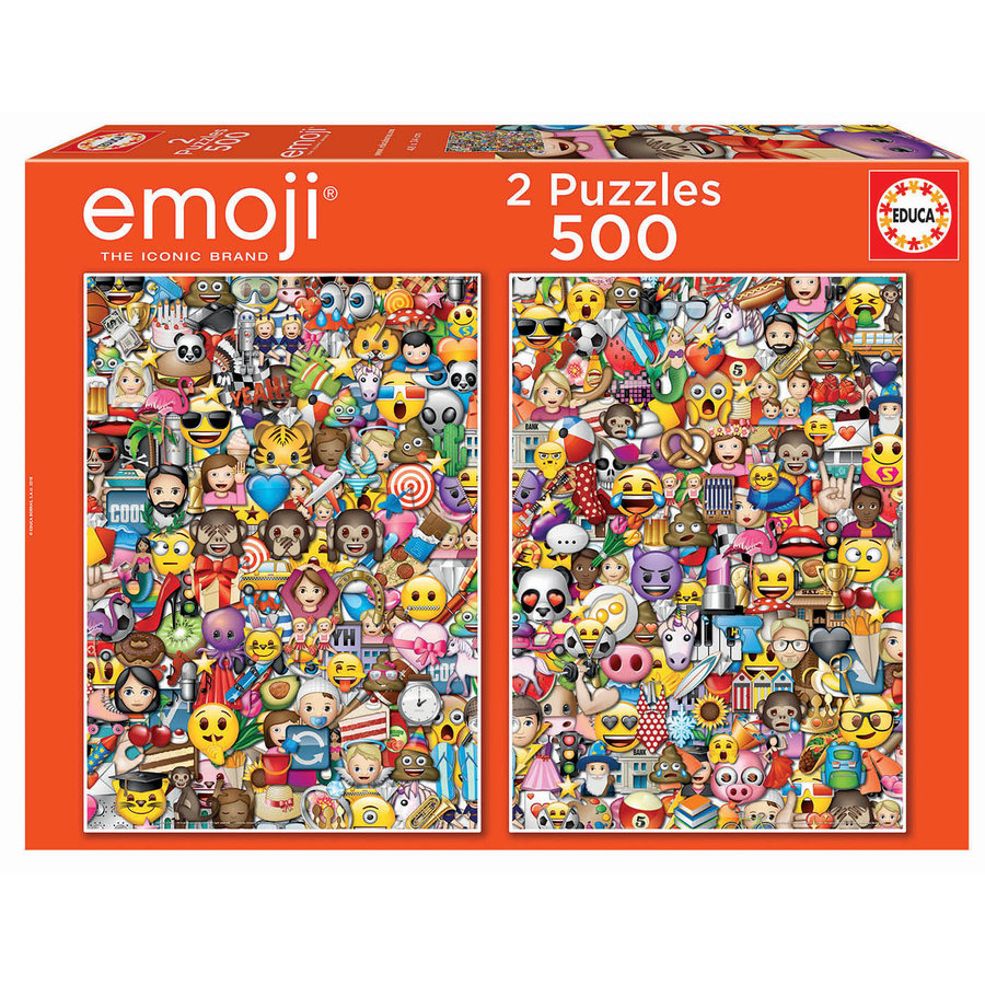 Emoji - 2 x 500 pieces puzzle-1