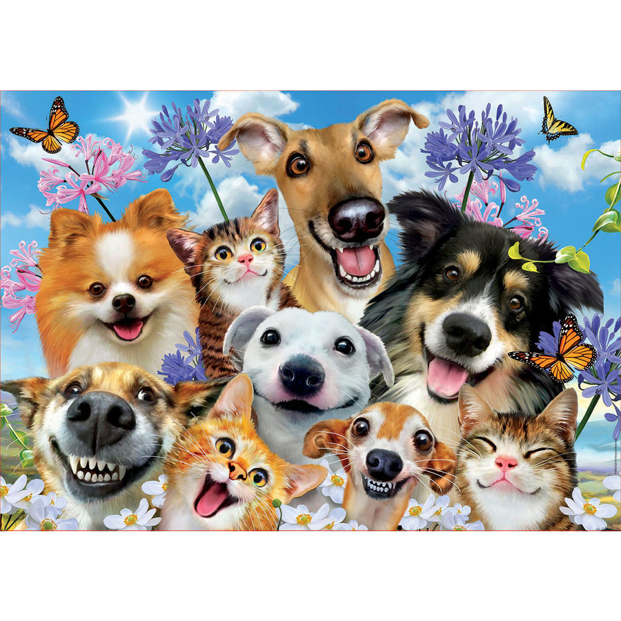 Fun in the sun Selfie -  jigsaw puzzle of 500 pieces-1