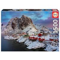 thumb-Lofoten eilanden in Noorwegen - legpuzzel van 1500 stukjes-2