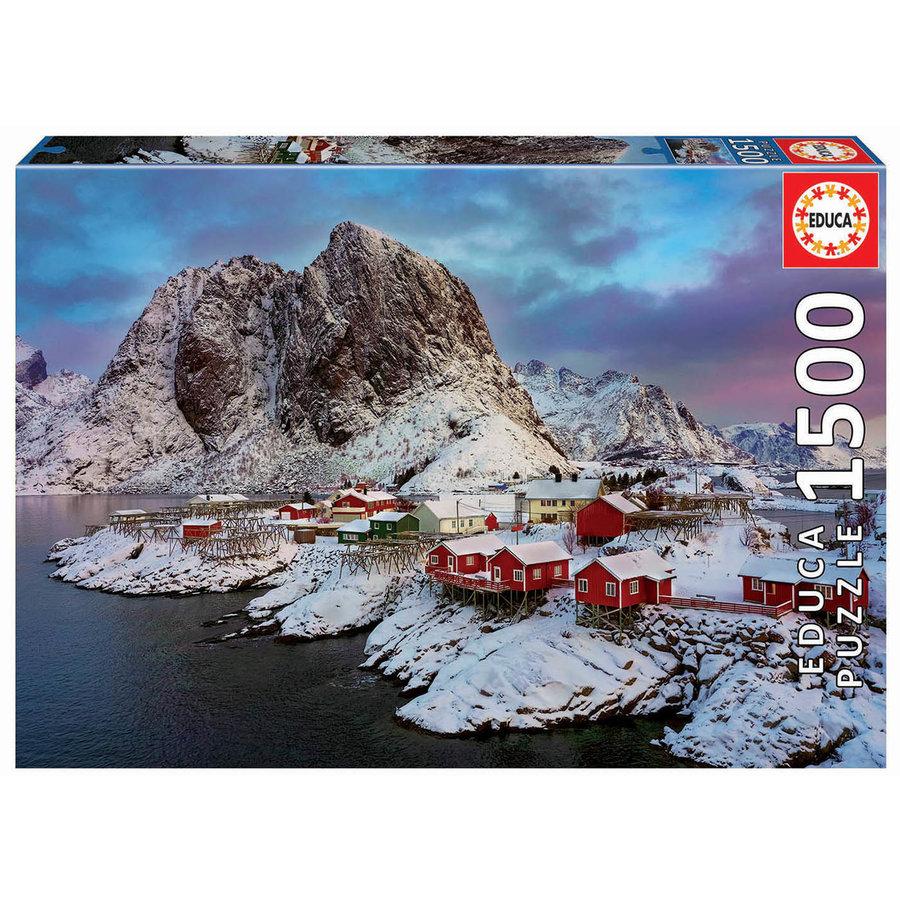 Lofoten eilanden in Noorwegen - legpuzzel van 1500 stukjes-2
