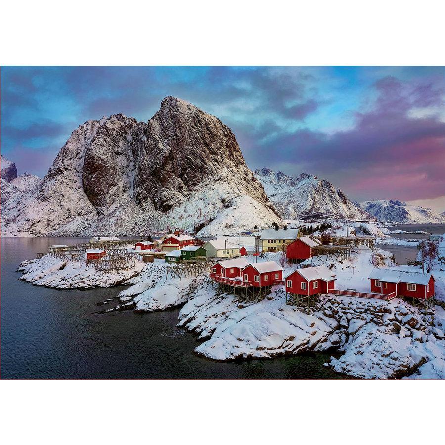 Lofoten eilanden in Noorwegen - legpuzzel van 1500 stukjes-1
