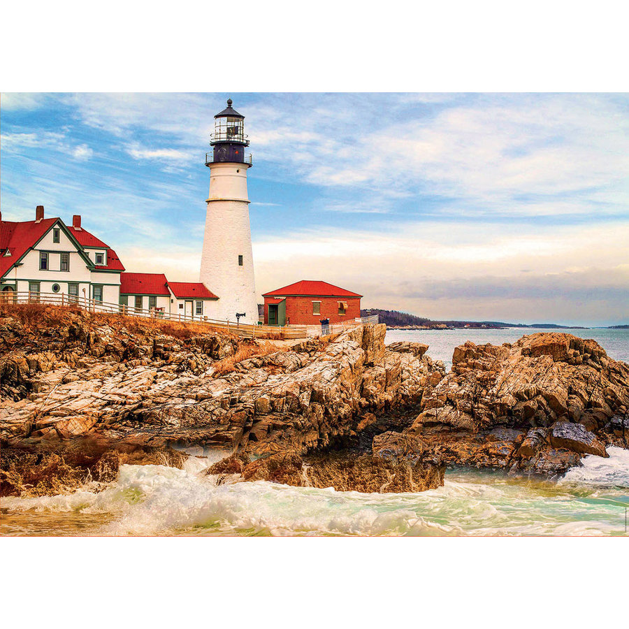 Rocky Lighthouse - jigsaw puzzle of 1500 pieces-1