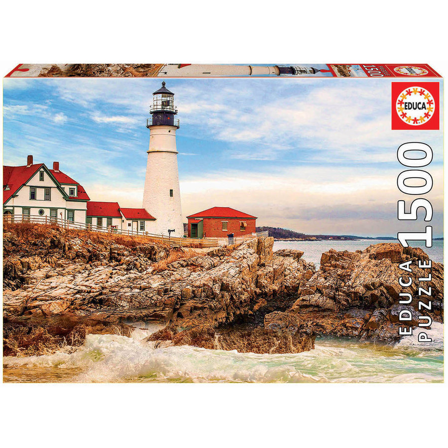 Rocky Lighthouse - jigsaw puzzle of 1500 pieces-2