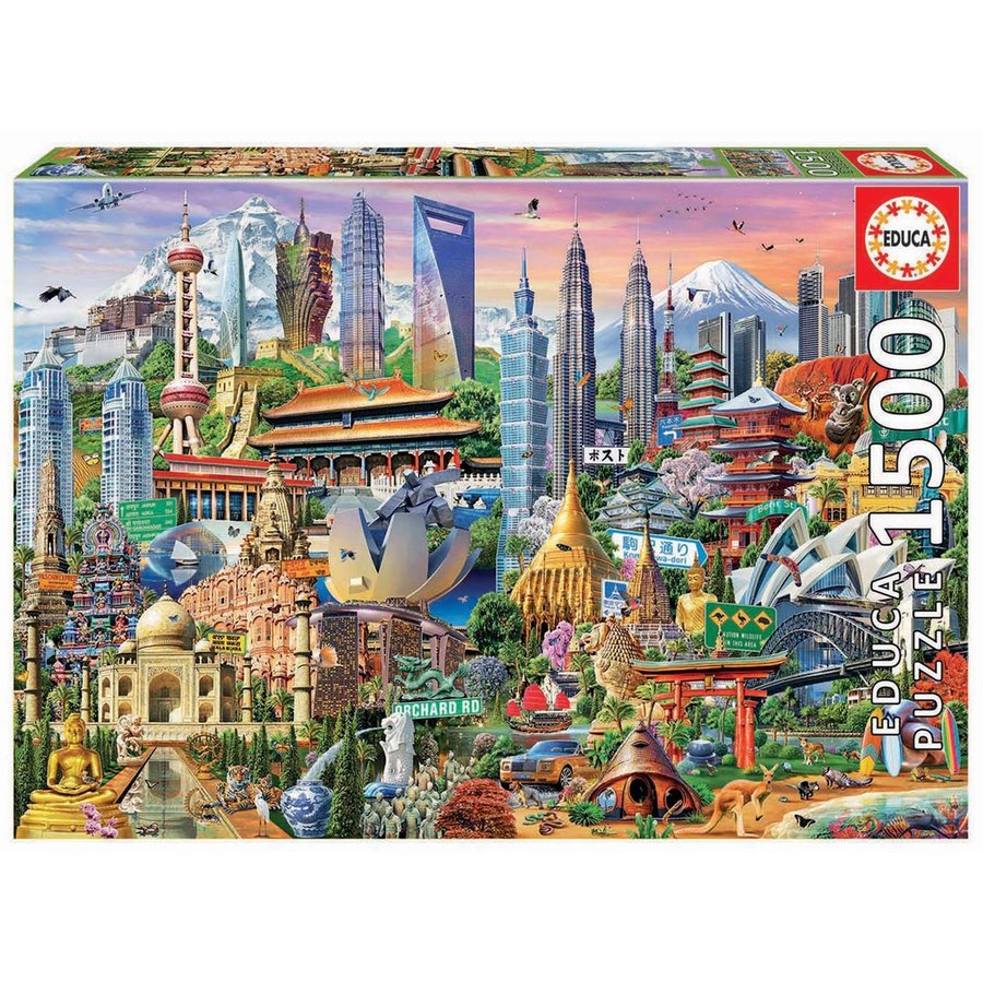 Asia Landmarks - jigsaw puzzle of 1500 pieces-2