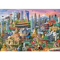 thumb-Asia Landmarks - jigsaw puzzle of 1500 pieces-1