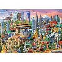 thumb-Symbolen van Azië - legpuzzel van 1500 stukjes-1