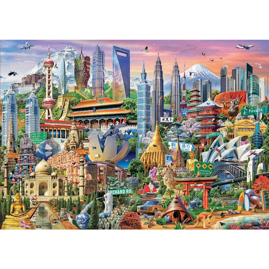 Asia Landmarks - jigsaw puzzle of 1500 pieces-1