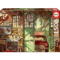 thumb-Old Garage - jigsaw puzzle of 1500 pieces-2
