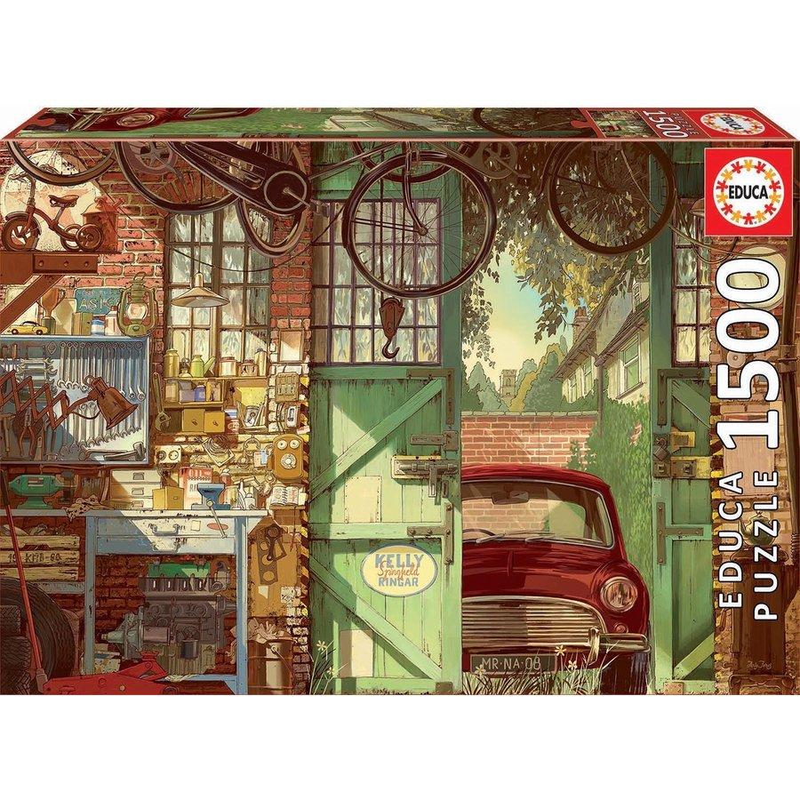 Oude Garage - legpuzzel van 1500 stukjes-2