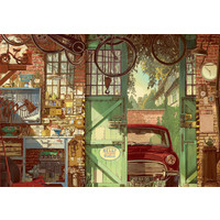 thumb-Oude Garage - legpuzzel van 1500 stukjes-1