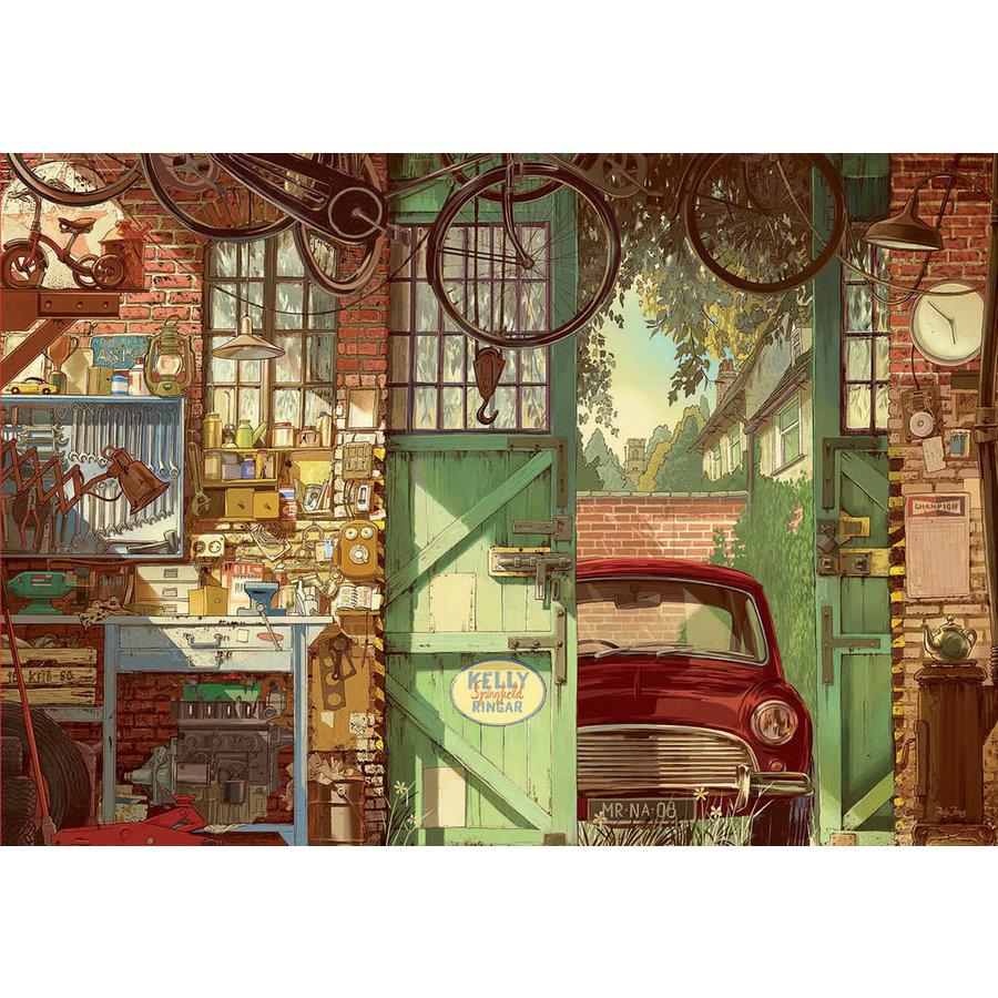 Oude Garage - legpuzzel van 1500 stukjes-1