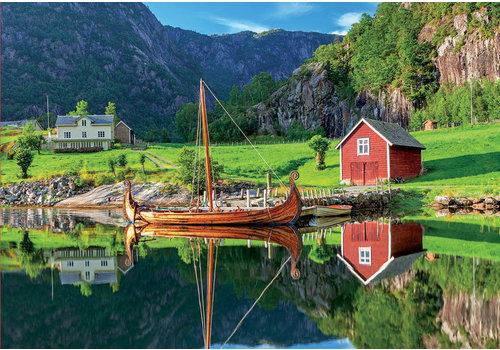 Vikingschip - 1500 stukjes