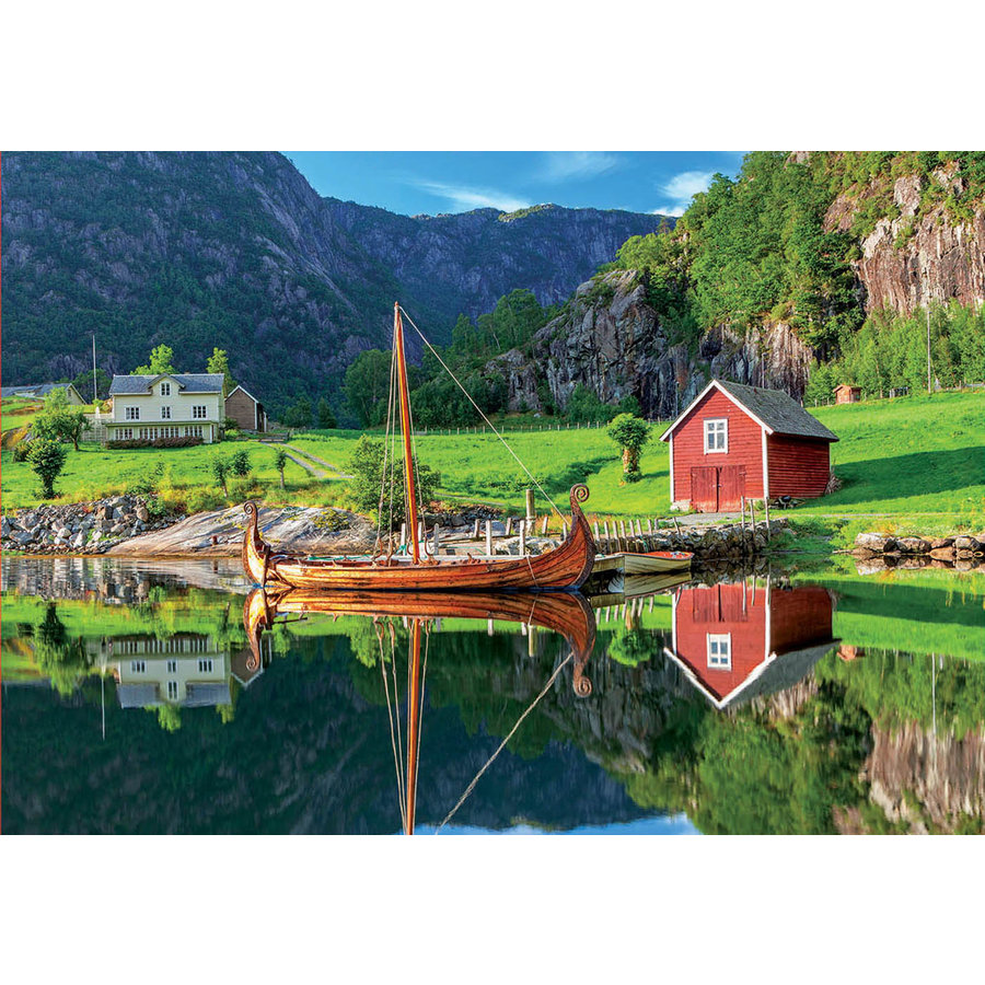 Vikingschip - legpuzzel van 1500 stukjes-1