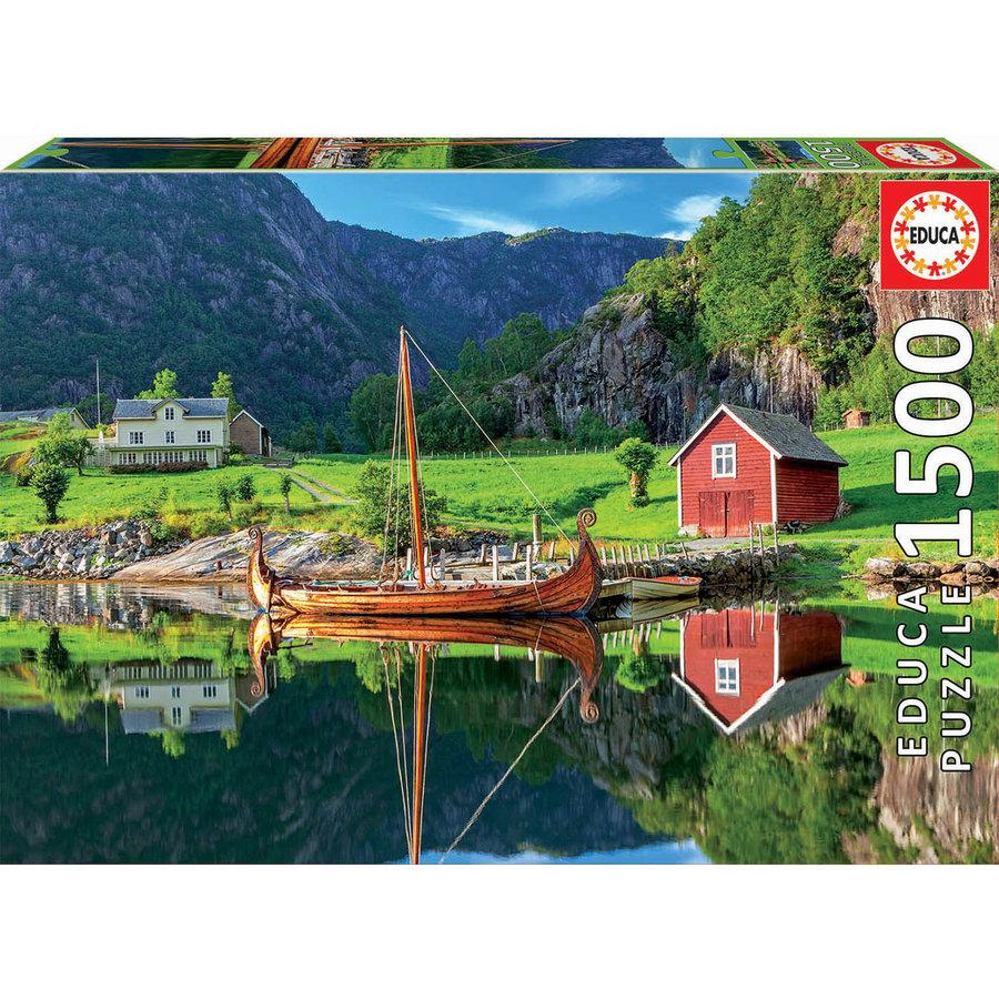 Vikingschip - legpuzzel van 1500 stukjes-2