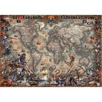 thumb-Wereldkaart van de Piraten - puzzel van 2000 stukjes-1