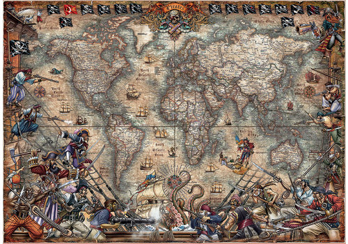 Educa Carte des Pirates - 2000 pièces