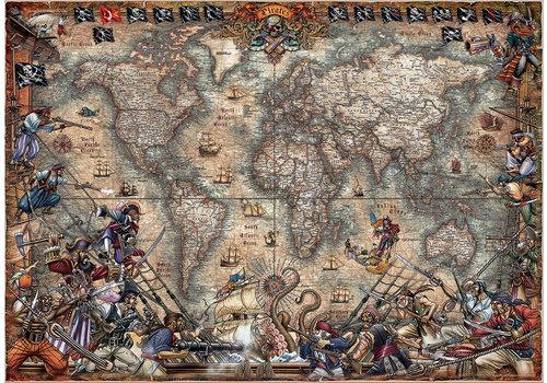 Educa Wereldkaart van de Piraten - 2000 stukjes