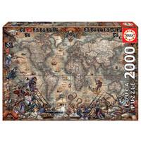 thumb-Wereldkaart van de Piraten - puzzel van 2000 stukjes-2