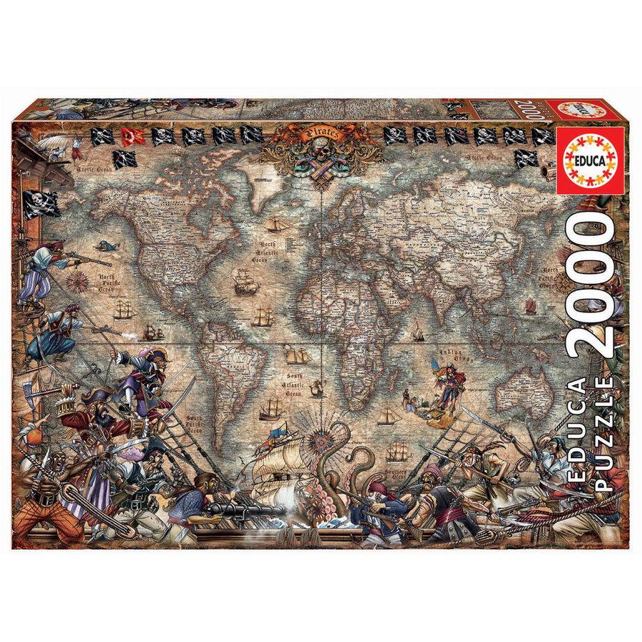 Wereldkaart van de Piraten - puzzel van 2000 stukjes-2