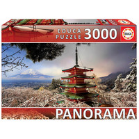 thumb-Mount Fuji and Chureito Pagoda in Japan - jigsaw puzzle of 3000 pieces-1