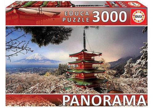 Educa Fuji berg en de Chureito Pagode - 3000 stukjes