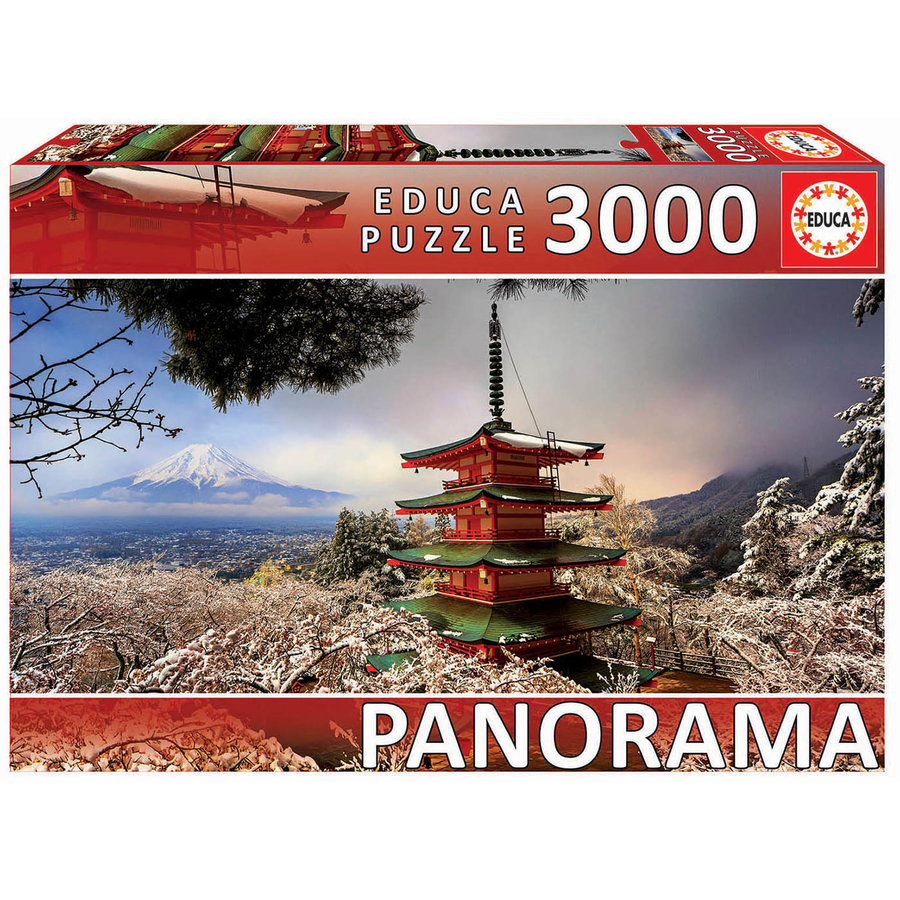 Mount Fuji and Chureito Pagoda in Japan - jigsaw puzzle of 3000 pieces-1