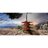 thumb-Mount Fuji and Chureito Pagoda in Japan - jigsaw puzzle of 3000 pieces-2