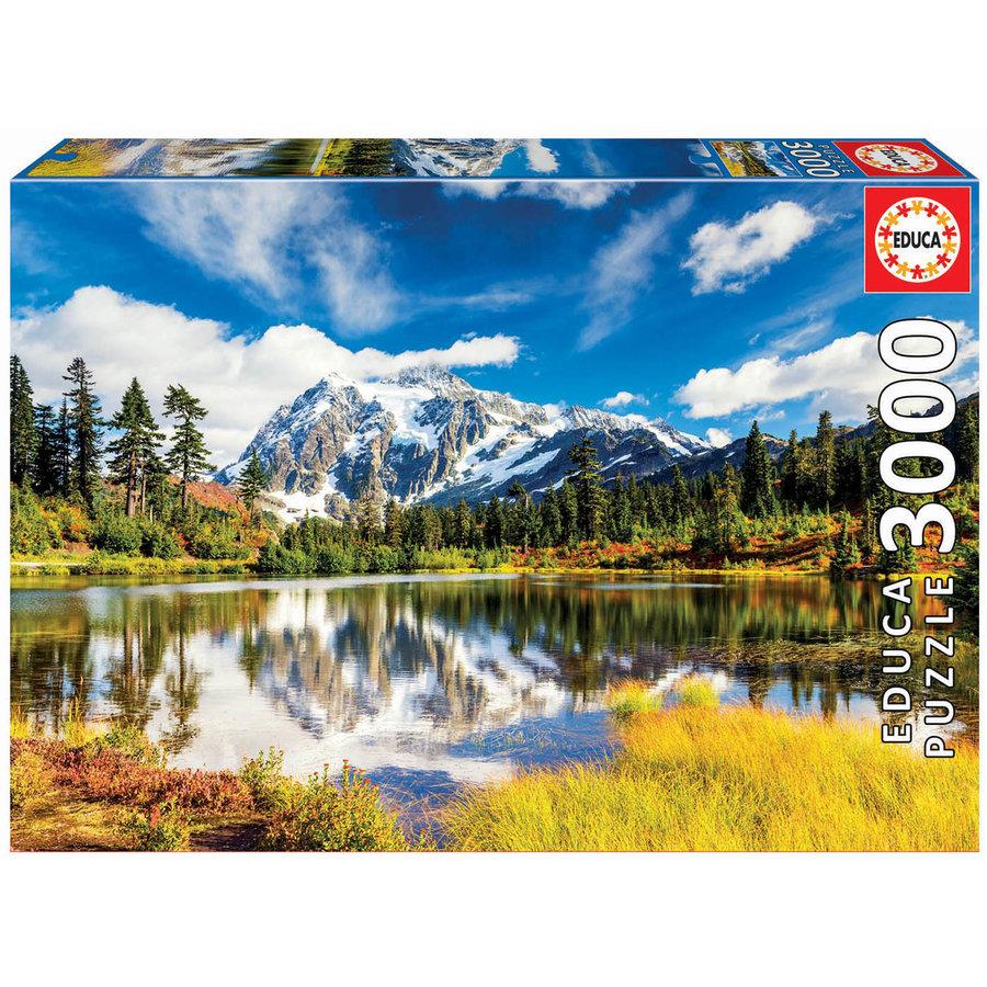 Mount Shuksan in Washington - jigsaw puzzle of 3000 pieces-2