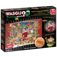PRE-ORDER: Wasgij Christmas 15 - Santa's unexpected delivery - 2 jigsaw puzzles of 1000 pieces