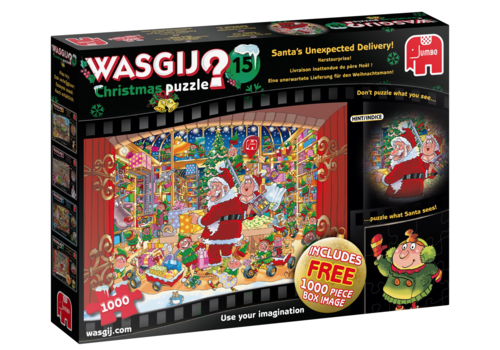 PRE-ORDER: Wasgij Christmas 15 - Santa's unexpected delivery - 2 x 1000 pieces
