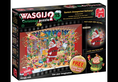 PRE-ORDER: Wasgij Noël 15 - Livraison inattendue du père Noël - 2 x 1000 pièces