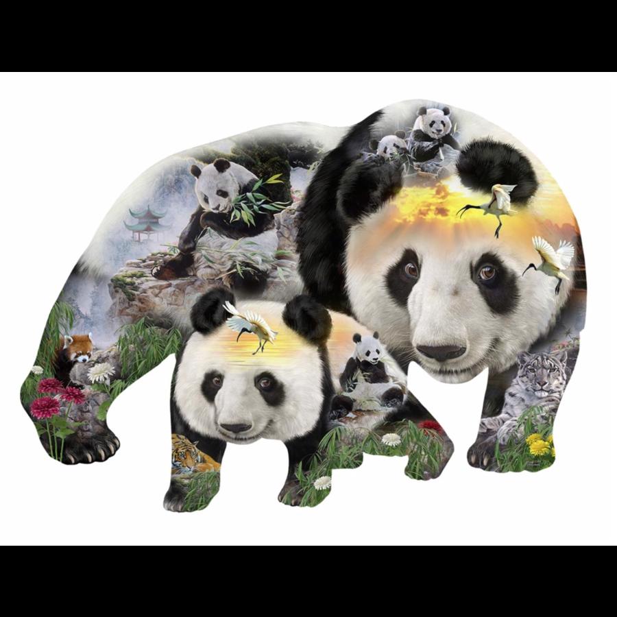 Panda-monium -  jigsaw puzzle of 1000 pieces-1