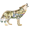 SUNSOUT Meadow Wolf -  jigsaw puzzle of 750 pieces